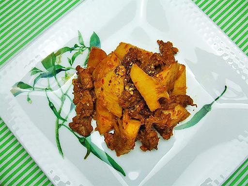 ミタミタユーカリはちみつレシピたけのこの中華風ピリ辛炒め1