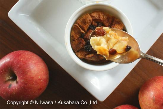 冬のデザートはちみつとりんごのブレッド&バタープディング3