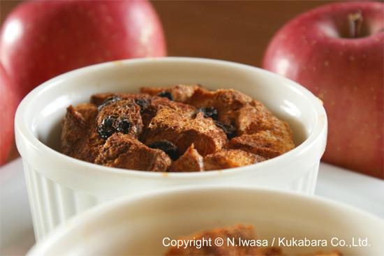 冬のデザートはちみつとりんごのブレッド&バタープディング4