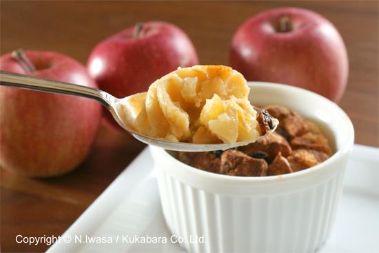 冬のデザートはちみつとりんごのブレッド&バタープディング5