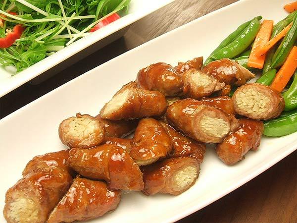 はちみつレシピユーカリはちみつイエローガム入り新生姜の豚肉巻き1