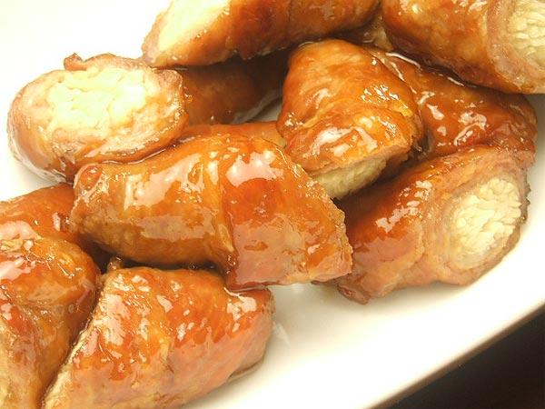 はちみつレシピユーカリはちみつイエローガム入り新生姜の豚肉巻き2