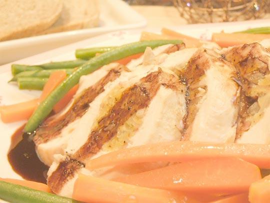はちみつを使ったアイデアいろいろ鶏むね肉のオーブン焼き、ワインとはちみつのソース2