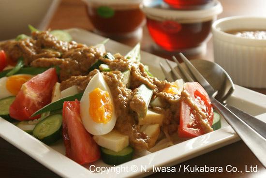 ユーカリはちみつマヌカはちみつレシピ「インドネシア料理ガドガド」1