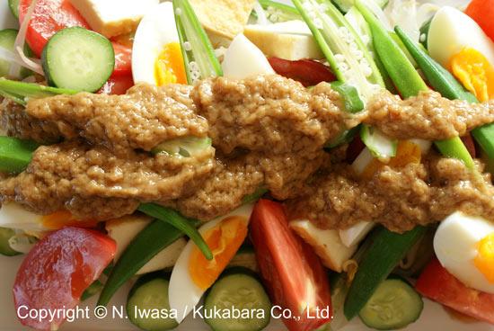 ユーカリはちみつマヌカはちみつレシピ「インドネシア料理ガドガド」2