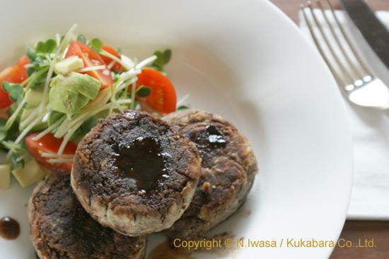 蜂蜜レシピ「レンズ豆のベジタリアンハンバーグ」1