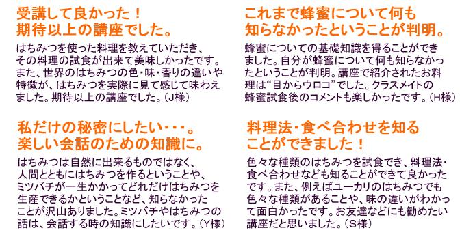 NHK文化センターはちみつ講座7