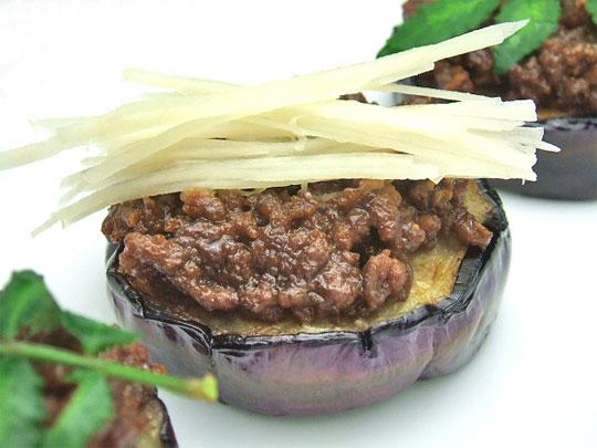 ユーカリはちみつペパーミント入り茄子の肉味噌のせ2