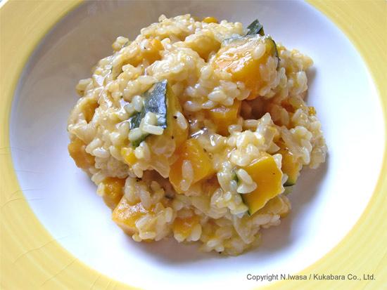 ユーカリはちみつ&マヌカはちみつレシピ「かぼちゃのリゾット」3