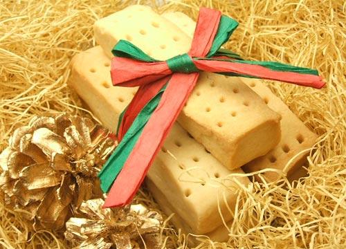 はちみつを使ったアイデア色々クリスマスのお菓子ショートブレッド3