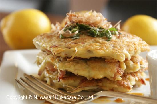 ユーカリはちみつレシピ夏のお好み焼き5