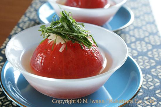 はちみつレシピ「丸ごとトマトのお浸し」130821a