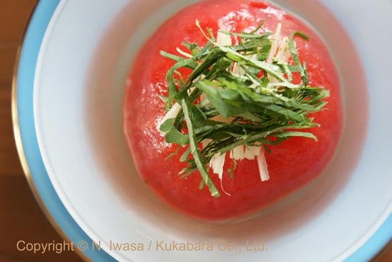 はちみつレシピ「丸ごとトマトのお浸し」130821b