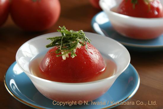 はちみつレシピ「丸ごとトマトのお浸し」130821c